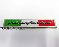 Enamel Chrome Pininfarina Italian Flag car Badge Fiat Alfa