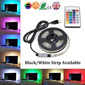 1M-5V-SMD5050-RGB-LED-Strip-Light-Waterproof-USB-IR-Remote-Controller-TV-PC-Back