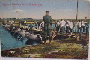 Deutsche-Pioniere-beim-Brueckenbau-Feldpost-1917-nach-Mainz-28859