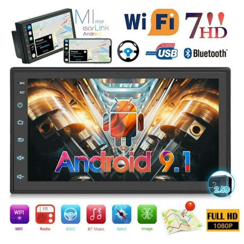 "autoradio: 7"" AUTORADIO 2DIN QUAD CORE ANDROID 9.1 BLUETOOTH FM STEREO GPS NAVIGATORE"