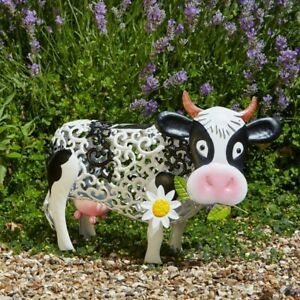 Daisy-Cow-Solar-Powered-Garden-Ornament-Silhouette-Light-Up-Colour-Changing