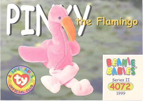 TY Beanie Babies BBOC Card Series 2 Common NM//Mint PINKY the Flamingo