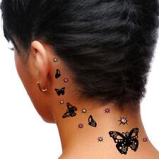 ADDTTOO® Beauty Gift Set Black Butterfly Crystal Tattoo Swarovski Body Art D16