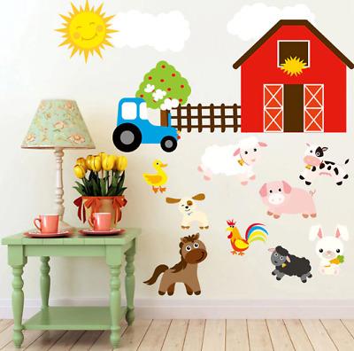Cute Baby Pigs Animal Wall Art Stickers Mural Décalque Kids Bedroom Farm DECOR ev3