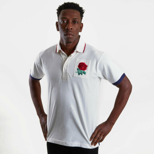 VX3 Mens England 2019//20 Vintage Rugby Polo T-Shirt Tee Top Short Sleeve White