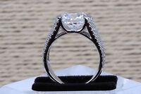 Ring White Gold Engagement 14k Wedding Cut Diamond Ct Solid 2 1 Round Bridal Usa