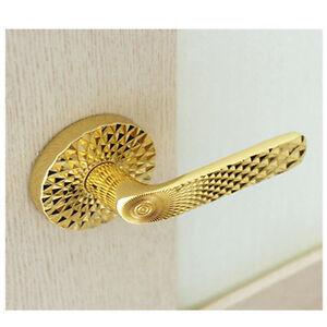 Excellent Gold Color Push Button Type Lever Handle Door Locks Door Handles Collection Dhjemzonderlifede