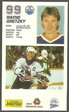 1985-86 Edmonton Oilers Wayne Gretzky West Edmonton Mall, Reprint on Thick Stock