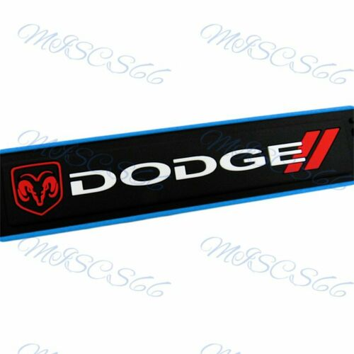 4pcs Blue Border Rubber Car Door Scuff Sill Cover Panel Step Protector For Dodge