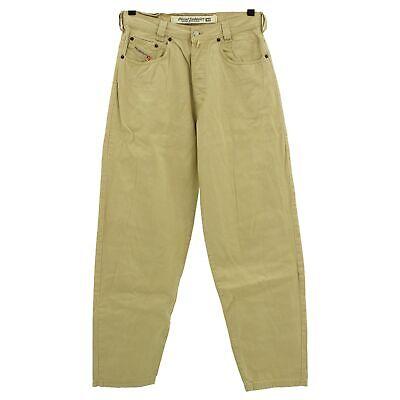 Appena #4252 Diesel Jeans Uomo Pantaloni Old Saddle 360 Denim Beige Beige 33/34-mostra Il Titolo Originale
