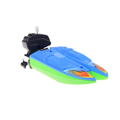 Kinderbadespaß ZPSommer Outdoor Pool Schiff Spielzeug Wind Up Schwimmen Motorboot Boot WRXJ