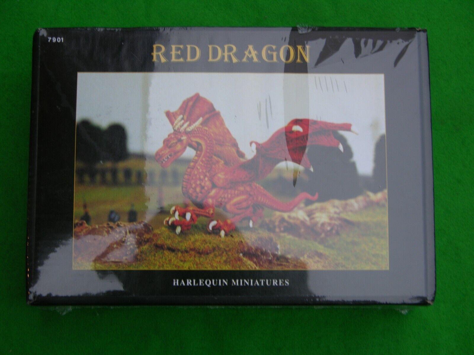 Harlequin Miniatures, rosso Dragon  7901 NUOVO  CON SCATOLA  100% autentico