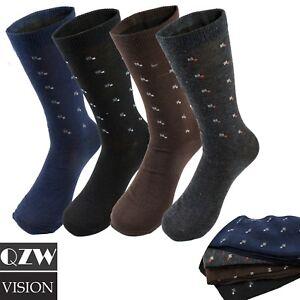 3-12-Pairs-Lot-Men-039-s-Solid-Assorted-Print-Design-Cotton-Dress-Dressing-Socks