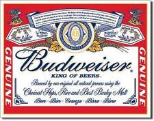 Budweiser Bier USA Klassik Style Logo Metall Schild Bar Werbung Deko Plakat