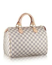 100% Authentic Louis Vuitton Speedy 30 Damier Azur Canvas