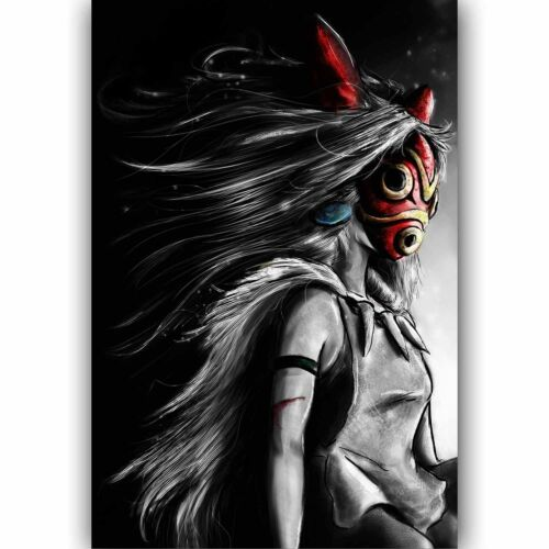 W496 Hot New Princess Mononoke Japan Anime Classic Comic Movie Poster Silk Art
