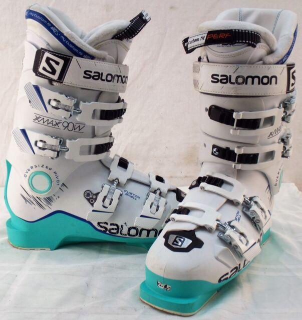 Salomon X Max 90 Used Women's Ski Boots Size 25.5 #633579
