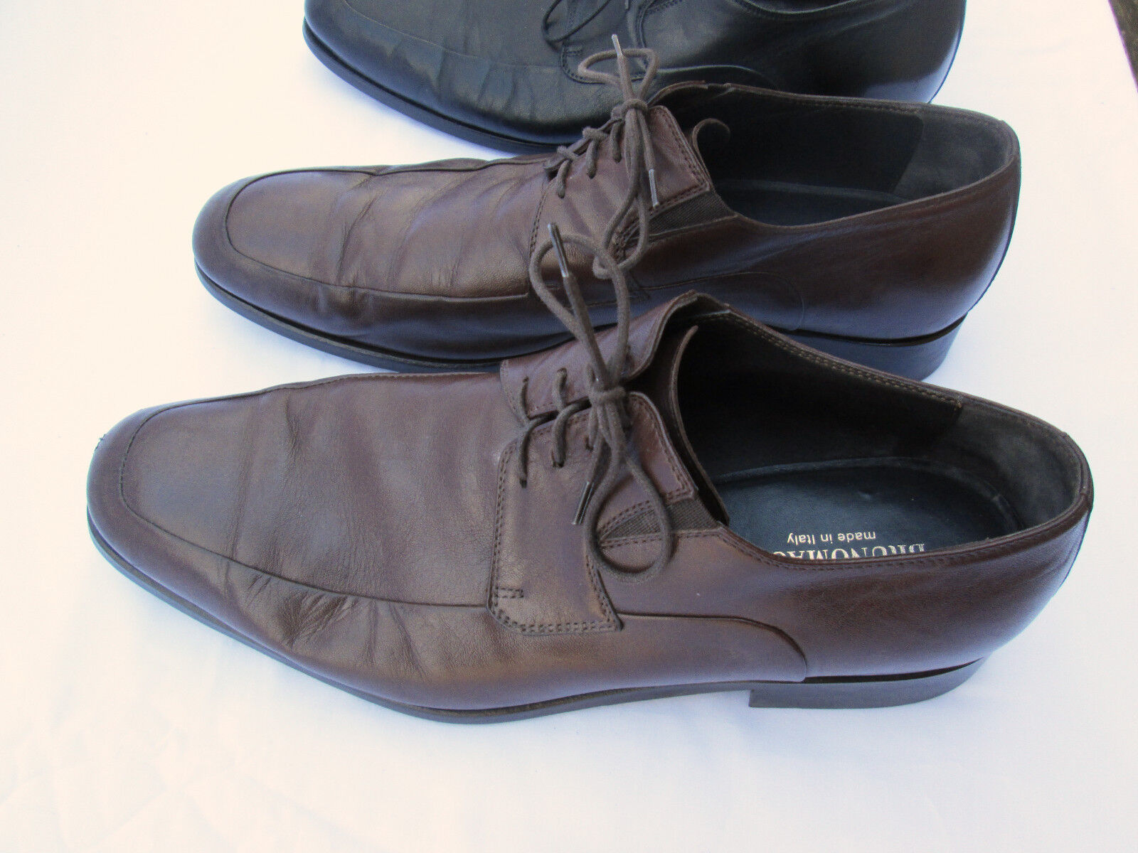 BRUNO BRUNO BRUNO MAGLI 10.5M Rammola Brown AND Black Dress Shoes! Choose One Pair or Both! 7e4769