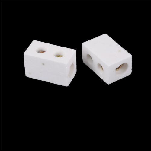 2Pcs High Temperature Ceramic Connector Block 30A 1 Way ZX