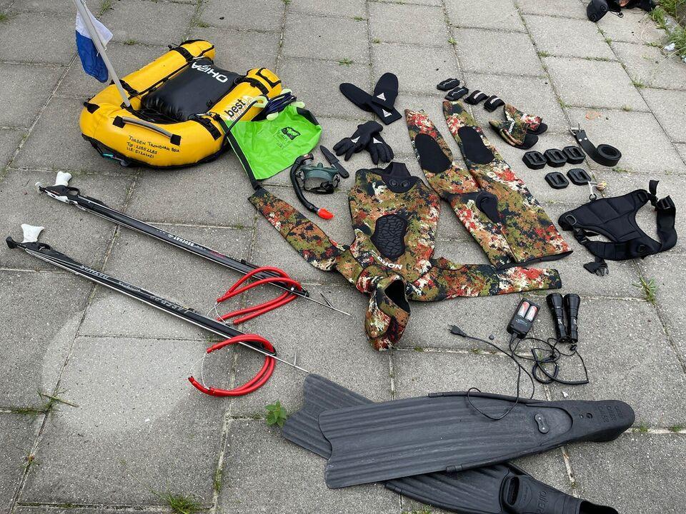 Komplet kvalitets udstyrspakke til undervandsjagt