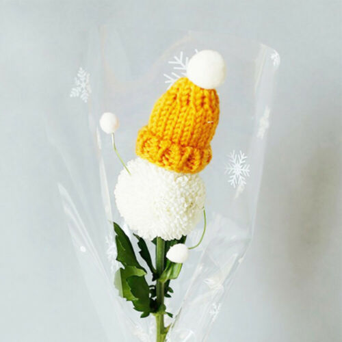 10PCS Knitted Small Christmas Hat Santa Claus Cap Hats Headdress DIY Party Favor