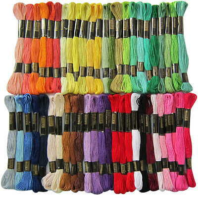 50 Trebla Cross Stitch Cotton Embroidery Thread Floss / Skeins *Best Deal
