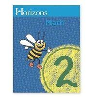 AOP Horizons 2nd Grade MATH 2 Home School HOMESCHOOLING Books WORKBOOKS 1 & 2