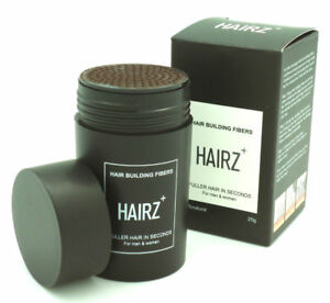 CRAZYBOSS Hairz+ Hair Loss Building Fibers Concealer Growth Black / Dark Brown