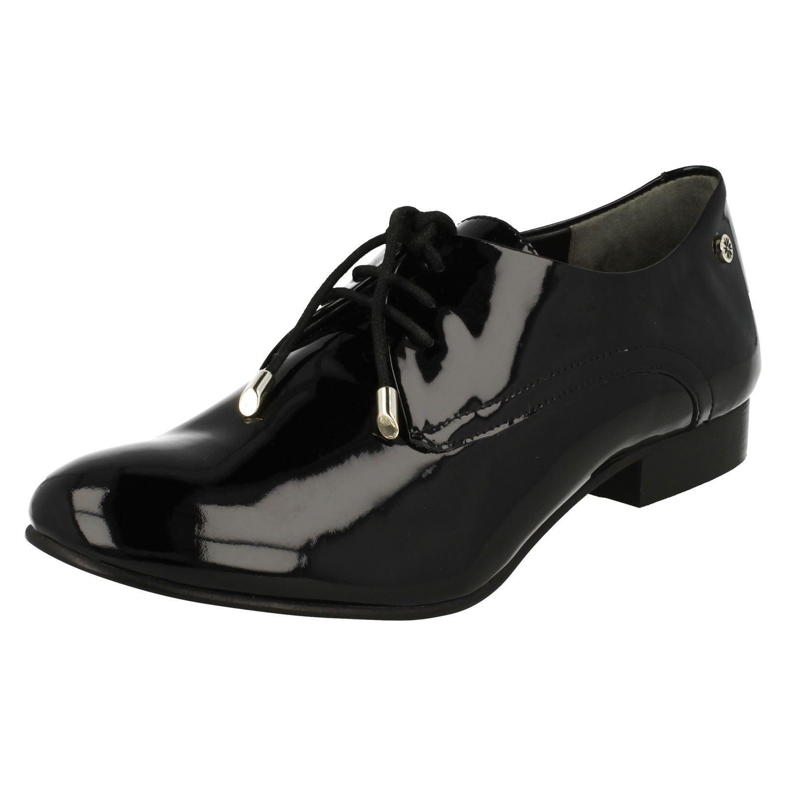 Damen schwarz / Schuhe Sturm Lackleder Schnürer Smart Van Dal Schuhe / Cagney a37b90
