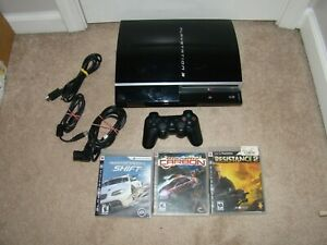 Sony-Playstation-3-PS3-Console-Bundle-CECHL01-80GB-With-3-Games