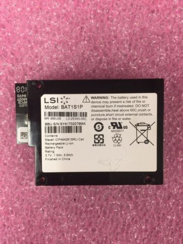 MR iBBU08 BAT1S1P LSI Battery For MegaRaid 9260-8i 9261-8i 9280-8i