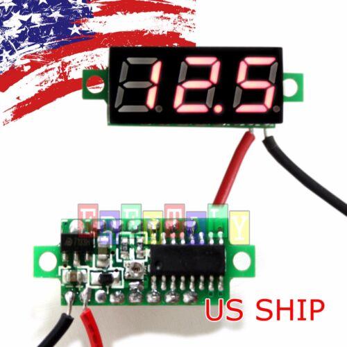 Red DC 0-30V 2 Wires LED Display Digital Voltage Voltmeter Panel For Breadboard