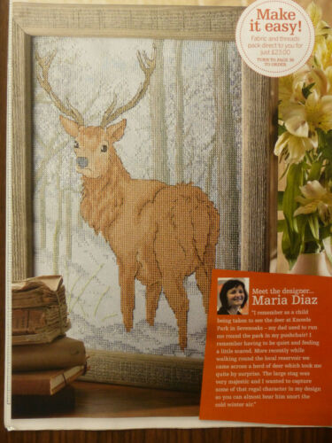 S2 X Stitch grafico Monarch del Glen Natures MERAVIGLIE Maria DIAZ Cervo Neve