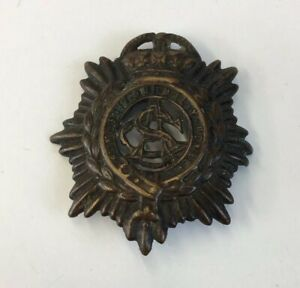 ASC-Army-Service-Corps-Brass-Cap-Badge-Well-Worn-4-5cm-In-Length