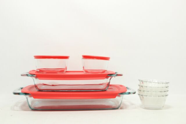 Glass Bakeware Food Storage Set 28 PiecePyrex Kitchen Bowls Containers Gift NEW