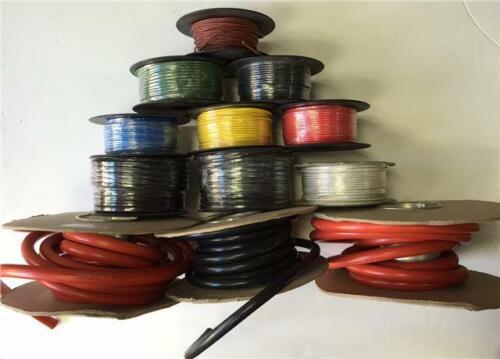 50 m MTR ROLL 8.75 Amp Single Core Wire Black Auto Cable Voiture Loom Flex 14 Strand