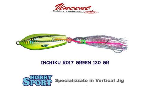 INCHIKU  JIG SALTY RUBBER - R017 GREEN - 120 GR  - VINCENT PESCA MARE BARCA