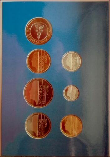 1 Dutch Mint Medal UNC B2 NETHERLANDS 1996 COIN SET 6 Coins 5 Cent 5 Gulden