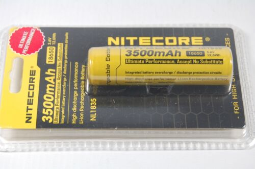 Nitecore Akku Li-Ion 18650 3500 mAh NL1835 geschützt LED Taschenlampe