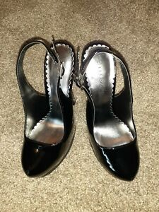 ShoeDazzle-Black-Slingback-Heels-Size-6