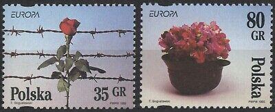 """1) Polen 1995/9 """" Europa Frieden Und Freiheit """" Mi.3533 - 34** Satz (1828) Komplette Artikelauswahl"""