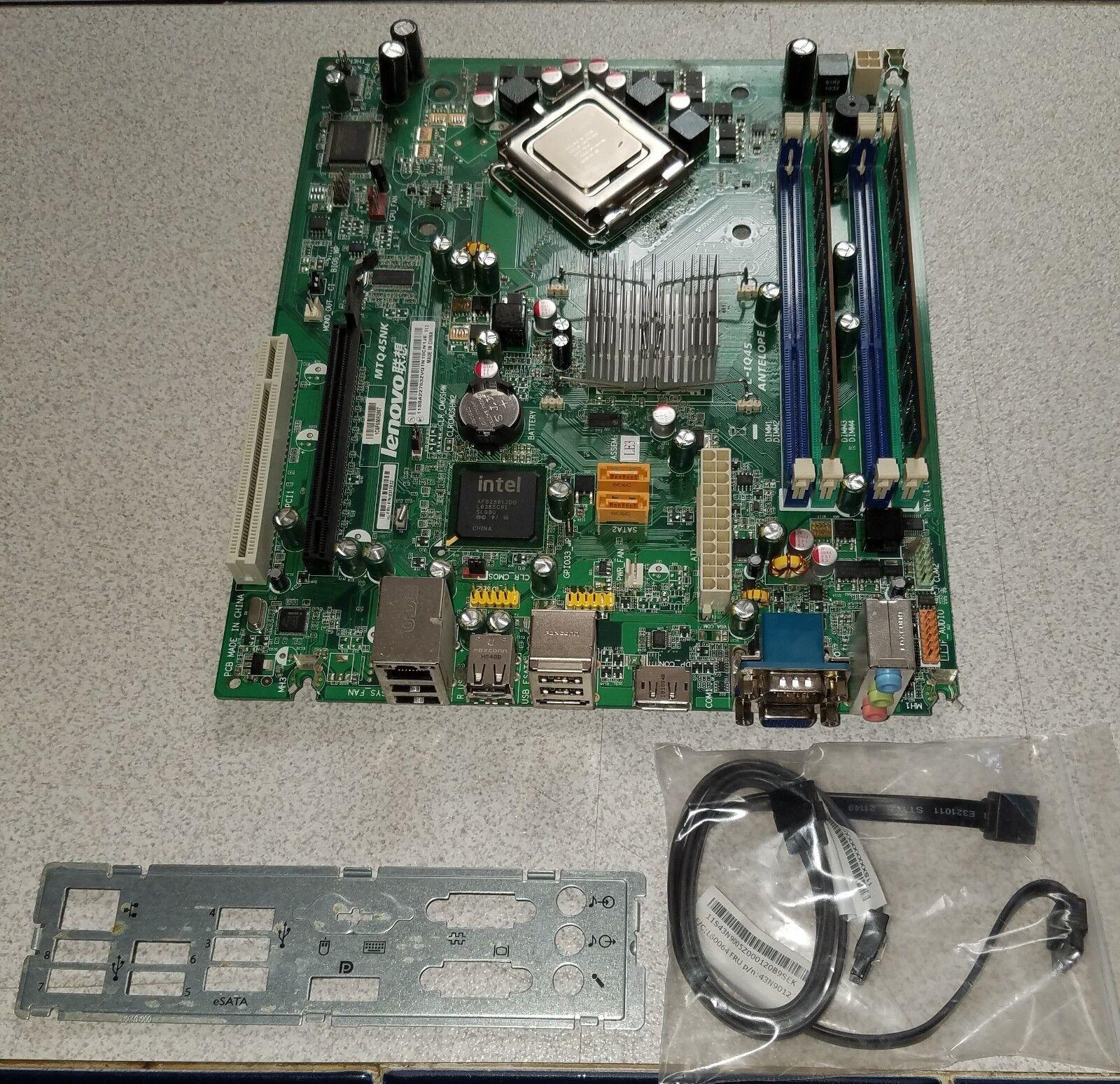 Lenovo Thinkcentre M58 M58P LGA775 Motherboard Kit W 2 9GHz CPU 4GB RAM  03T7032