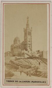 Notre-Dame-de-La-Guardia-Marsella-Francia-Foto-CDV-PL52L5n37-Vintage-Albumina