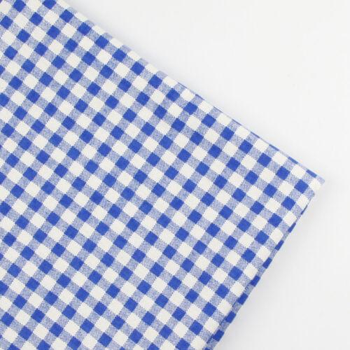 150x50cm Checked patchwork linen cotton fabric table plain quilt DIY sew cloth