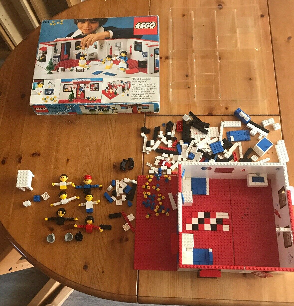 Vintage Lego Hospital 231 in Box NOT COMPLETE