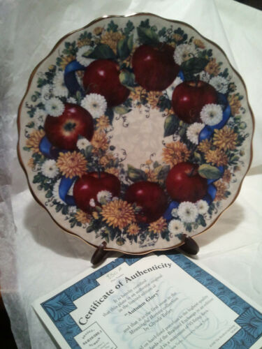 """Autumn Glory"" The Bradford Exchange Collectors Lt # Plate By Glynda Turley"
