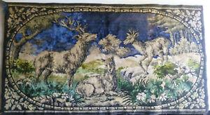 vintage-deer-stag-velvet-tapestry-wall-hanging-rug-38x21-034