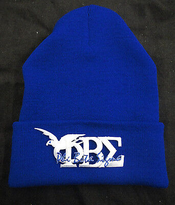 *NEW* PHI BETA SIGMA SCRIPT/DOVE ROYAL BLUE WINTER HAT
