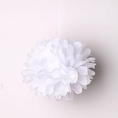 "2/10/16pcs  6""/8""/10""/14"" Tissue Paper Pom Poms Flower Wedding Party Home Decor"