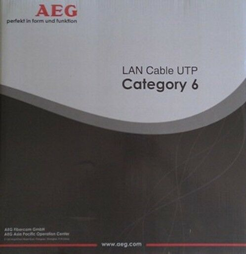 GermanAEG CAT 6 305M UTP 1000 feet roll Ethernet LAN Network Cable solid copper